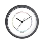 Intention Grows Wall Clock