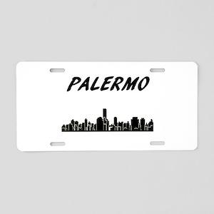 Palermo Skyline Aluminum License Plate