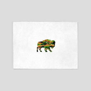 Buffalo Camo 5'x7'Area Rug