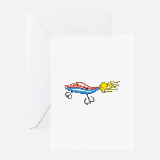 FISHING LURE Greeting Cards