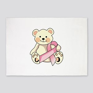 FIGHT CANCER BEAR 5'x7'Area Rug