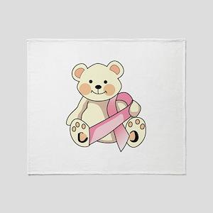 FIGHT CANCER BEAR Throw Blanket