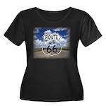 Rt. 66 Women's Plus Size Scoop Neck Dark T-Shirt