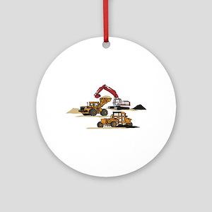 3 PC. HEAVY EQUIPMENT Ornament (Round)