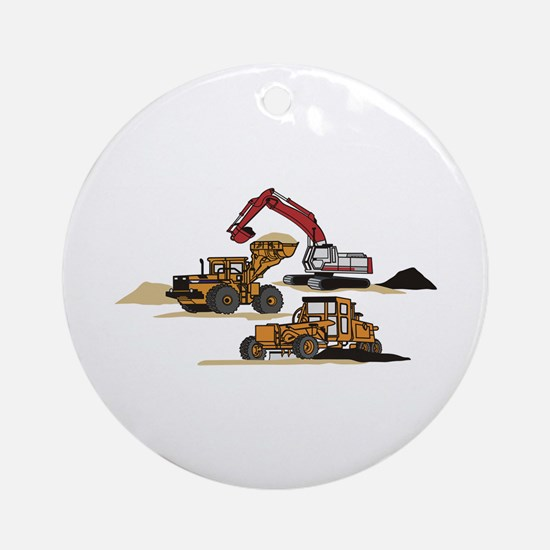 3 PC. HEAVY EQUIPMENT Ornament (Round)