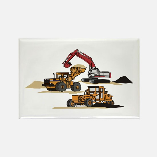 3 PC. HEAVY EQUIPMENT Magnets