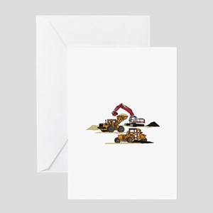 3 PC. HEAVY EQUIPMENT Greeting Cards