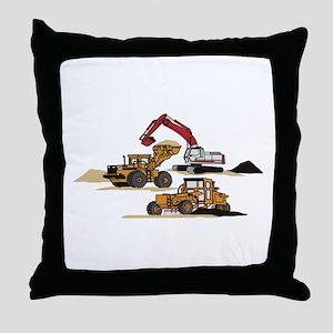 3 PC. HEAVY EQUIPMENT Throw Pillow
