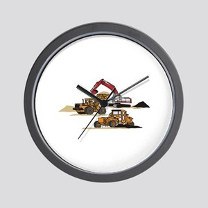3 PC. HEAVY EQUIPMENT Wall Clock
