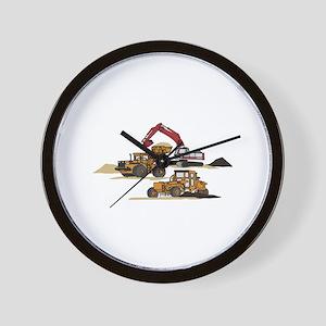 3 PC. HEAVY EQUIPMENT Wall Clock