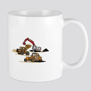 3 PC. HEAVY EQUIPMENT Mugs