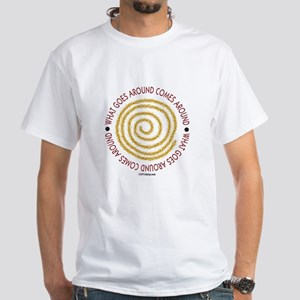 What Goes Around White T-Shirt