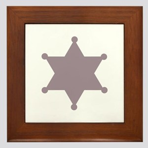 SHERIFF BADGE Framed Tile