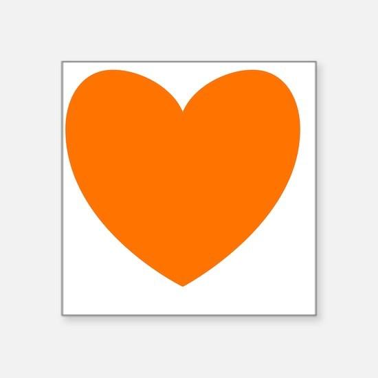 """ORANGE Heart 09 Square Sticker 3"""" x 3"""""""