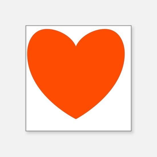 """ORANGE Heart 10 Square Sticker 3"""" x 3"""""""
