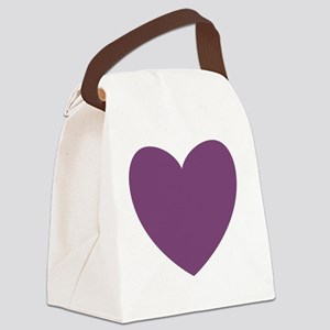 PURPLE Heart 11 Canvas Lunch Bag