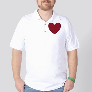 MAROON Heart 13 Golf Shirt