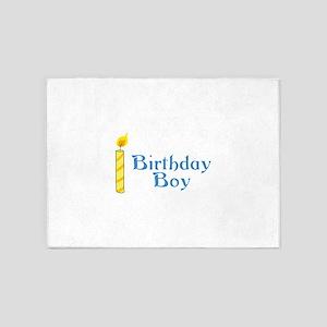 BIRTHDAY BOY 5'x7'Area Rug