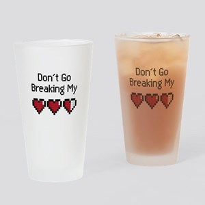 Don't Go Breaking my hearts Drinking Glass