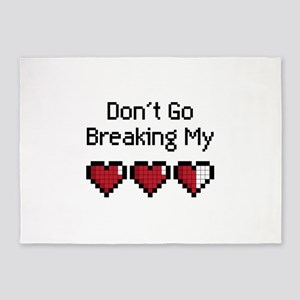 Don't Go Breaking my hearts 5'x7'Area Rug