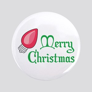 "CHRISTMAS LIGHT BULB 3.5"" Button"