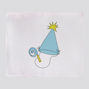 BIRTHDAY HAT Throw Blanket