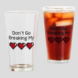 Don't Go breaking my pixeled heart Drinking Glass