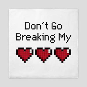 Don't Go breaking my pixeled heart Queen Duvet