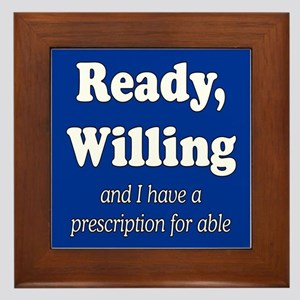 PRESCRIPTION FOR ABLE Framed Tile