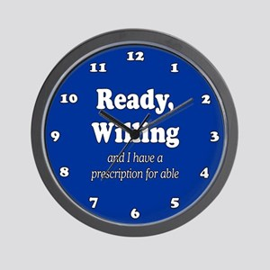 PRESCRIPTION FOR ABLE Wall Clock