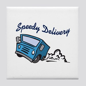 SPEEDY DELIVERY Tile Coaster