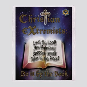 Christian Extremists Biblical List Throw Blanket