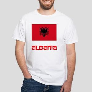 Albania Flag Retro Red Design T-Shirt