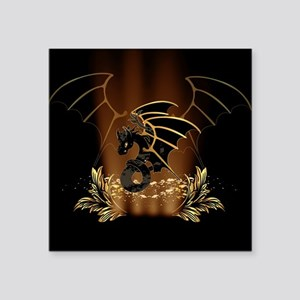 Awesome dragon in gold and black Sticker
