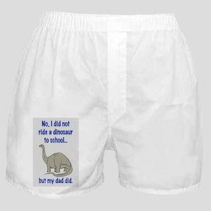 DID NOT RIDE A DINOSAUR Boxer Shorts