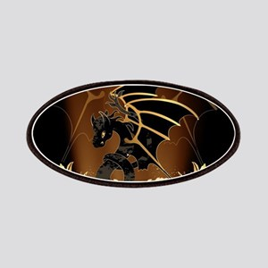 Awesome dragon in gold and black Patches