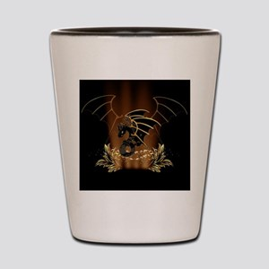 Awesome dragon in gold and black Shot Glass