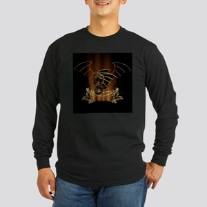 Awesome dragon in gold and black Long Sleeve T-Shi