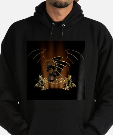 Awesome dragon in gold and black Hoodie