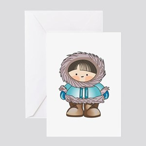 ESKIMO BOY Greeting Cards