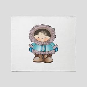 ESKIMO BOY Throw Blanket