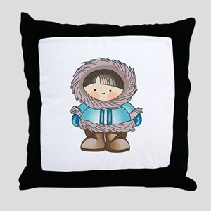 ESKIMO BOY Throw Pillow