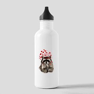 Raccoon Blowing Kisses Cute Animal Love Water Bott