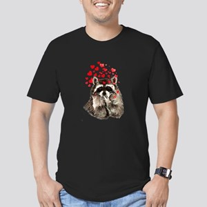 Raccoon Blowing Kisses Cute Animal Love T-Shirt