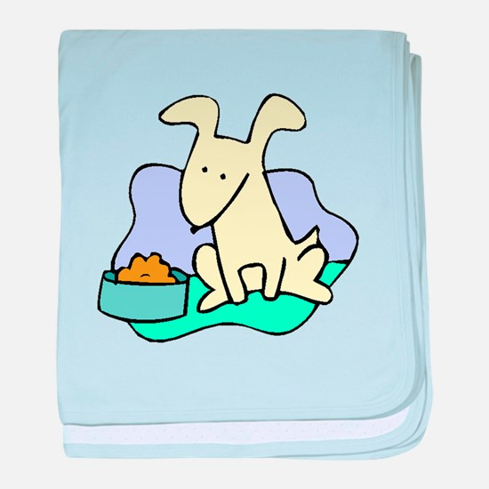 Dog And Food baby blanket