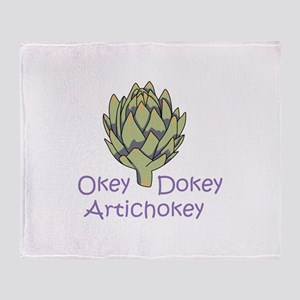 OKEY DOKEY ARTICHOKEY Throw Blanket