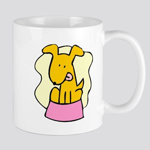 Dog And Bowl Mugs
