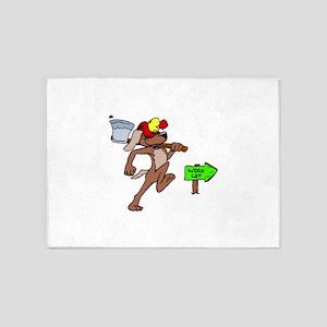 Dog Lumberjack 5'x7'Area Rug
