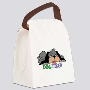 Dog Tired Canvas Lunch Bag