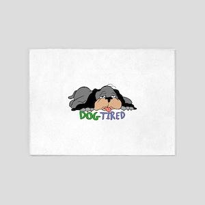 Dog Tired 5'x7'Area Rug